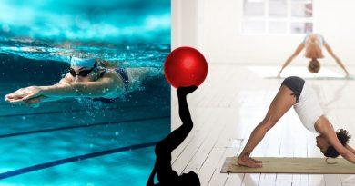 nadar ou fazer Pilates